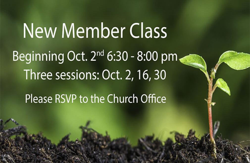 New Member Classes Begin