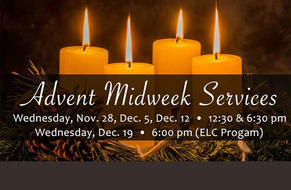 Advent Worship Services (12:30 pm)