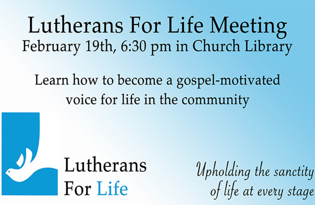 Lutherans For Life Meeting